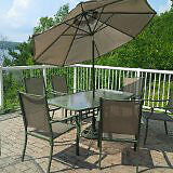 Patio Table, 4 Chairs and Umbrella