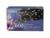 The Christmas Workshop 600 LED String Lights, Multi-Coloured