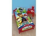 Paw Patrol bed frame with mattress