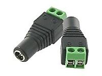 FEMALE JACK 5.5MM X 2.1MM 2.1 DC POWER CONNECTOR ADAPTER FOR CCTV CAMERA INSTALL OR REPAIR