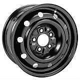 "16"" 5x114.3 Black Steel Wheels, 67.1 Bore"