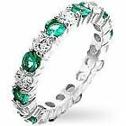 Emerald Eternity Fashion Rings