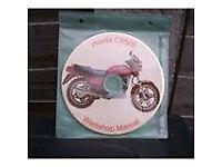 honda cx 500cc workshop manual brand new