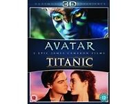 3D Avatar and Titanic blu ray.