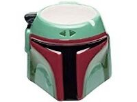 Official Star Wars Boba Fett 3D mug BNIB