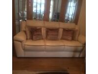 Immaculate 3 seater Leather settee