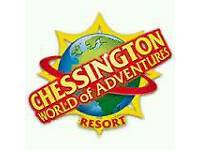 2 Chessington tickets 11th july