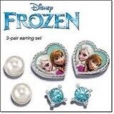 Frozen 3 piece earrings set