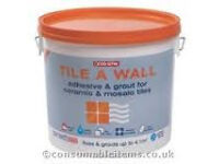 Evo-Stik Tile A Wall Adhesive and Grout for Ceramic and Mosaic Tiles (Discount pack of 10)