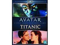 3D Avatar and Titanic blu ray.