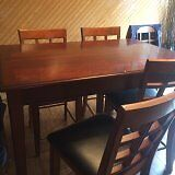 Pub Style/6 chairs/glass top table