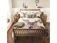 stag double quilt cover and 2 cushions