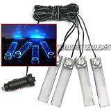 4 In 1 12V Sleek Blue Car Atmosphere Lamp Charge LED Interior Dandenong Greater Dandenong Preview
