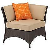 Sedona Wicker Couch 3 pieces: 2 corner chairs & middle chair.NEW