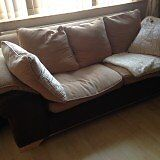 Two sofas for sale, 3 seater and 2 seater (sofa bed) £110 for each one, £200 for both