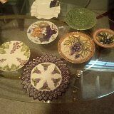 Various grape plates. About 35 of them . Picture.