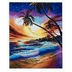 Crystal Art kit Tropical Beach 40 x 50 cm diamond painting