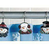 Snowman Shower Curtain Hooks