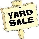 Canada Day yard sale.