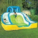 """11 ft battlefield bouncy slide and 18ft X36"""" pool"""