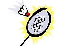 Badminton group (social, competitive, active, keep fit)