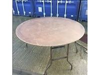 5Ft round fold down Banqueting Tables