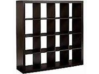 Black Ikea 12 cube unit