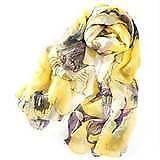 Yellow Chiffon Scarf