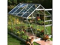 BRAND NEW GREENHOUSE FRAME WITH BASE 6 X 4