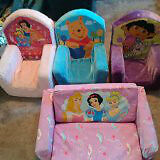 Child kids Size Foam Chairs and pull out foam bed