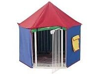 Playpen and tent.