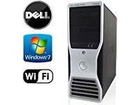 Workstation computer desktop DELL with monitor keyboard mouse good for office or home