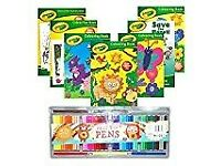 Crayola® Bumper Pack of 7 x Children's Fun Colouring, Activity, Puzzle & Dot to Dot Books & 50PC PEN