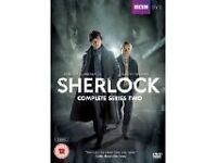Series 2 Sherlock Complete three episodes on 2 Dvds starring Benedict Cumberbatch and Martin Freeman
