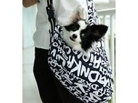 Small dog sling carrier-