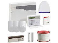 burgler alarm system honeywell with 3 pir sensor supplied and fitted and cctv cameras