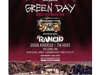 2 x General Admission Tickets Green Day at Hyde Park 1 July 2017