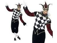GOTHIC VENETIAN HARLEQUIN / MASQUERADE BALL FANCY DRESS SIZE L MASK DOES NOT COME WITH IT