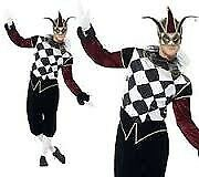 GOTHIC VENETIAN HARLEQUIN / MASQUERADE BALL FANCY DRESS OUTFIT SIZE L MASK DOES NOT COME WITH IT