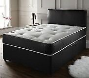 Divan base and headboard with memory mattress