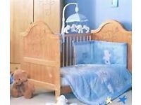 Brand new b is for bear bedding and cot mobile.