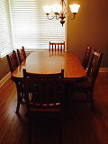 Traditional Solid Wood Dining Table and 6 Chairs