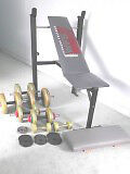 Weider Exercise Bench and Weights