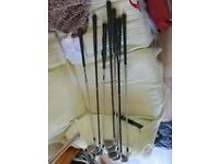 Assorted Golf clubs for sale £50.