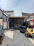 Workshop garage and yard