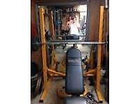 Adjustable weights rack, squat rack and leg curl bench