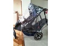phil&teds Classic Blue buggy with 2 seats