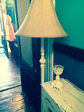 Vintage stand up lamp - wrought-Iron