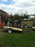 ATV Trailors for sale (single and double axle)