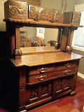 Hutch for sale 1870's beautful hand carved detailing